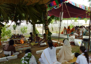Vedic ceremony being performed